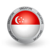 Badge - Singapore flag — Stock Vector