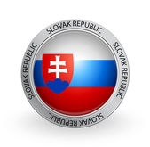 Badge - Flag of Slovak Republic — Stock Vector