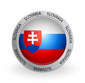 Badge - Slovakia flag — Stock Vector