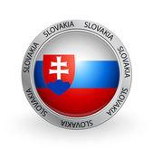 Badge - Slovakia flag — Stock Vector
