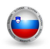Badge - Slovenia flag — Stock Vector