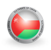 Badge - Flag of Sultanate of Oman — Vettoriale Stock