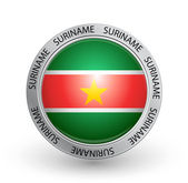 Badge - Suriname flag — Stock Vector