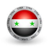 Badge - Syria flag — Stock Vector