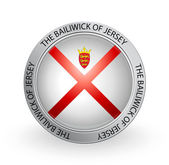 Badge - The Bailiwick of Jersey flag — Stock Vector