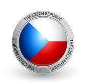Badge - flag of the Czech Republic — Stock Vector