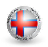 Badge - Flag of the Faroe Islands — Stock Vector