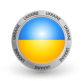 Badge - Ukraine flag — Stock Vector