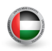 Badge - Flag of United Arab Emirates — Stock Vector