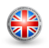 Badge - Flag of United Kingdom of Great Britain and Northern Ireland — Stock Vector