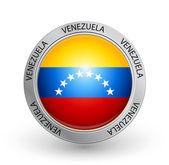 Badge - Venezuela flag — Stock Vector