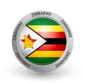 Badge - Zimbabwe flag — Stock Vector