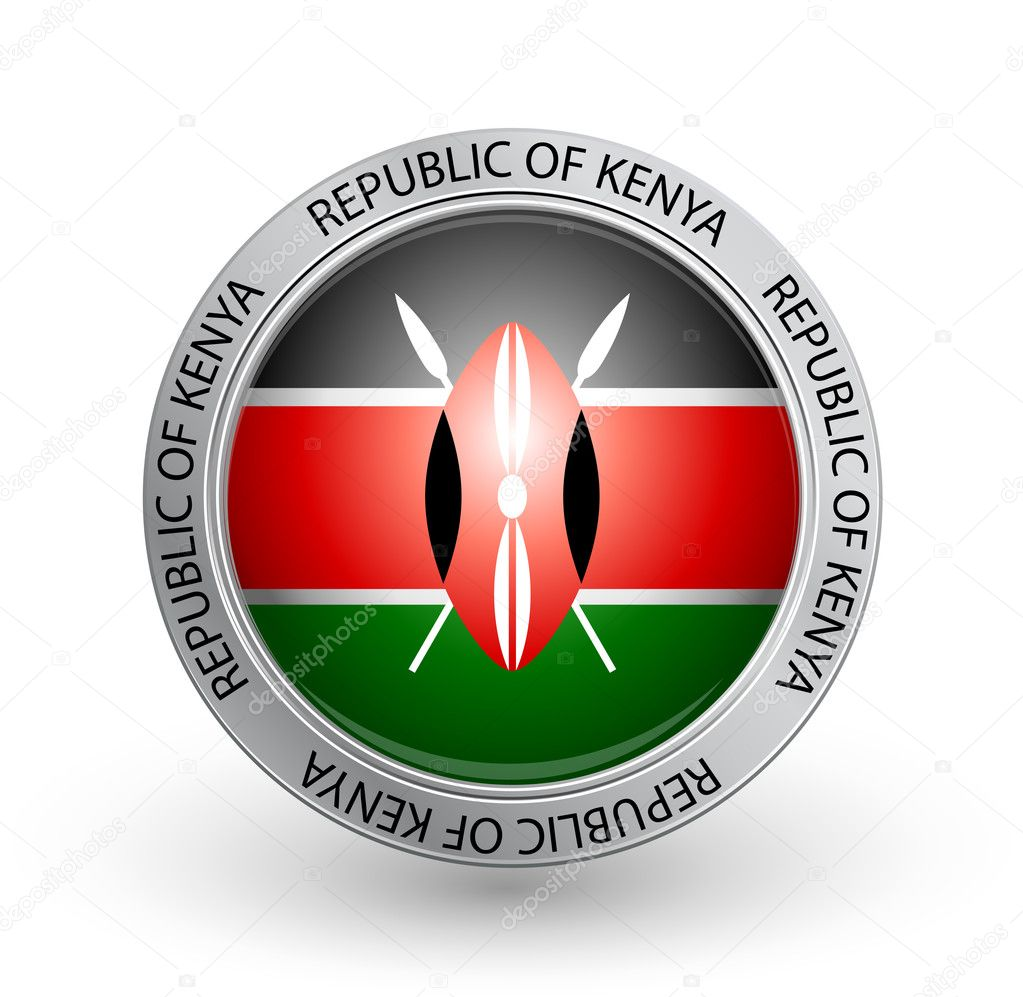Vector illustration of a badge with the flag of Republic of Kenya  Stock Vector #6612582