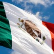 Mexican flag in blue sky — Stock Photo