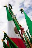 Mexican flags — Stock Photo