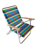 Colorful beach chair in white — Stock Photo