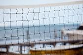 Volleybal netto na plaży — Zdjęcie stockowe