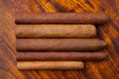 Cigars of different sizes — Stock Photo