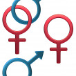 Feminine Male symbol - Stock Photo