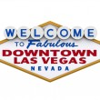 Stock Photo: Las Vegas Downtown Sign 1
