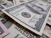 One hundred dollar bill close up. 2 — Stock Photo