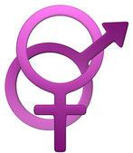 Feminine-Male symbol — Stock Photo