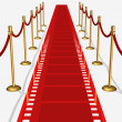 Film Red Carpet Top View — Stock Photo