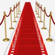 Stock Photo: Film Red Carpet Top View
