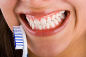 Mounth and toothbrush 4 — Stock Photo