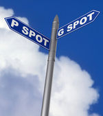 G spot and P spot sign — Stock Photo