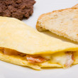 Royalty-Free Stock Photo: Omelet with ham and cheese