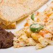 Royalty-Free Stock Photo: Mexican scrambled eggs.