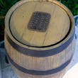 Wood trashcan - Stock Photo