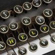 Old typewriter help — Stock Photo