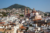 Taxco houses and Church — Stock Photo