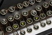 Old typewriter help — Stock Photo