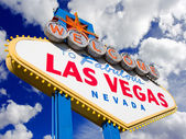Welcome to Las Vegas, clouds background. — Stock Photo