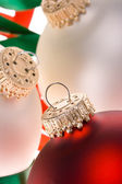 Christmas ornaments in white 2 — Stock Photo