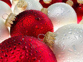 Christmas ornament with water drops 3 — Stock Photo