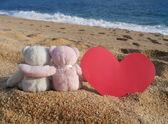 Romance de ursos de pelúcia — Foto Stock