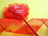 Kırmızı kalp seni seviyorum — Stok fotoğraf