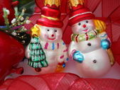 Snowmen figurines — Stock Photo