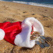 Christmas treasure on the beach — Zdjęcie stockowe
