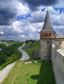 Road near the castle — Stock Photo