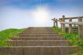 Stairway and Sunlight — Stock Photo