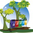 Royalty-Free Stock Vector Image: Garbage collection for recycling.