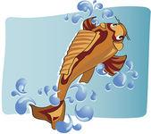 Pescados de la carpa — Vector de stock