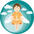 Angel with candle — Stock Vector
