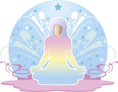 Woman meditating — Stock Vector