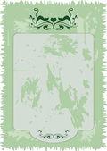 Paper invitation with kitten ornament. — Stock Vector